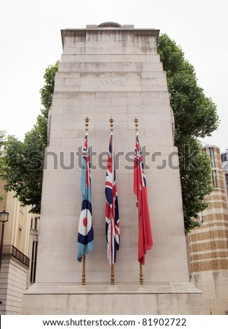 Cenotaph to commemorate the deads of all wars, London, UK