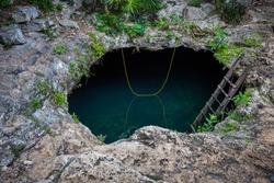 Cenote Cavalera also called temple of Doom, Tulum, Mexico