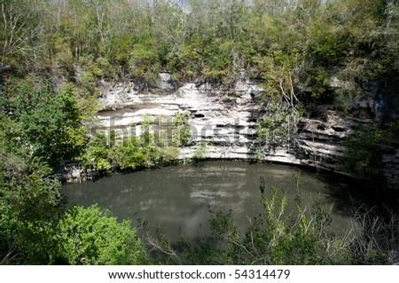 Cenote Sagrado, Chichen Itza, Yucatan, Mexico