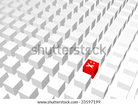 Censorship Abstract Background Creative Concept Red White