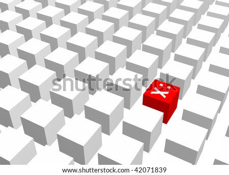 Censorship Abstract Background Creative Concept Red White - stock photo