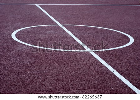 Center of a basketball playground. Sports concept