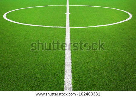Center of football or soccer field