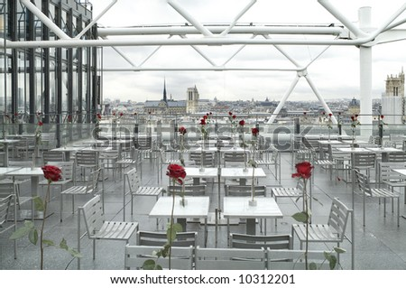 Center of Modern Arts, observation deck, cafe, Paris,January 2008