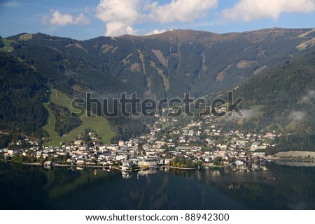 Center of the alpine city Zell am See