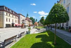 Center of the Cieplice thermal resort in Jelenia Gora Lower Silesia Poland.