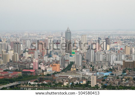 Center of Wuxi, a large industrial city of Jiangsu province, China