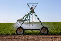 Center pivot crop irrigation or irrigating system for farm management