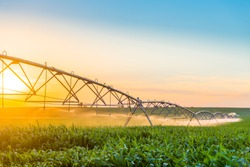Center Pivot Irrigation System in Cornfield
