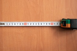 centimeter tape on the table, measuring centimeter