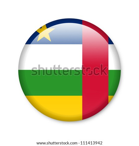 Central African Republic - glossy button with flag