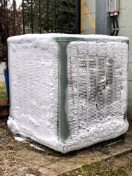 Central Air Conditioner frozen or iced up heat pump