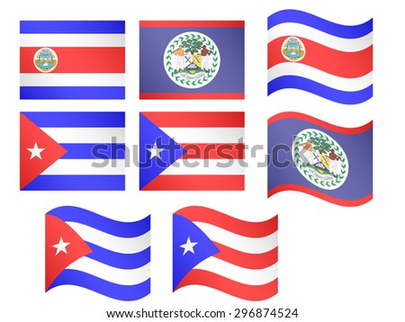 Central America Flags 2 and Caribbean Flags 1