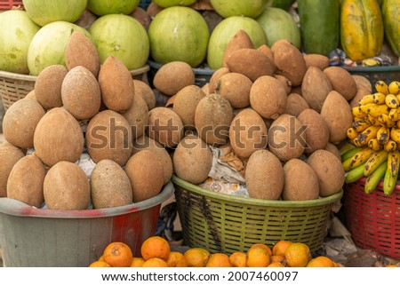 Central america fruit stand. Latin American Fruit stand Foto stock ©