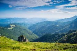 Central Balkan national park in Bulgaria, path to Botev peak