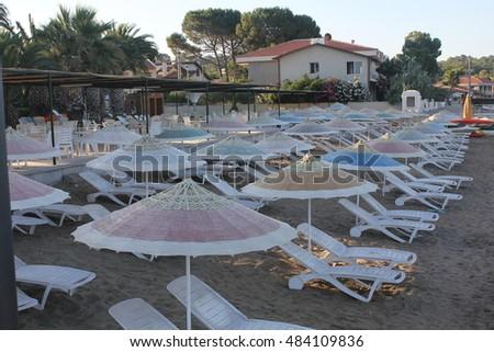 Central Bank of the Republic of Turkey summer camp beach TC Merkez Bankas? Naim Talu E?itim, Seminer ve Dinlenme Sitesi Stok fotoğraf ©