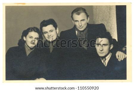 CENTRAL BOHEMIA, CZECHOSLOVAK REPUBLIC, CIRCA 1946 - siblings - circa 1946