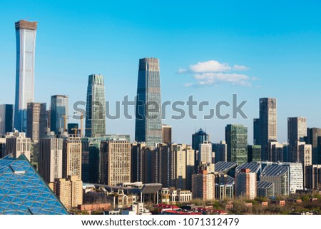 Central Business District of Beijing. It is the home of many high-end enterprises such as finance, insurance, real estate and internet. #1071312479