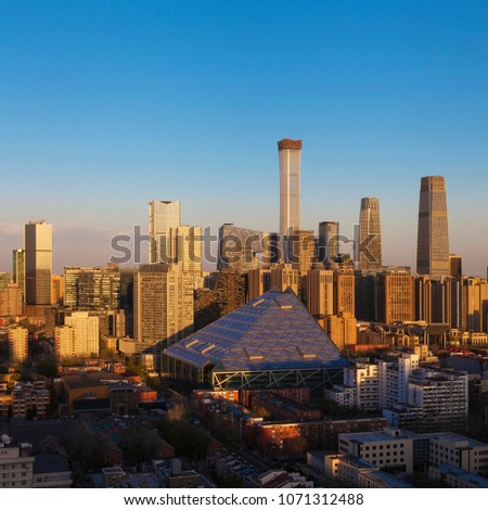 Central Business District of Beijing. It is the home of many high-end enterprises such as finance, insurance, real estate and internet. #1071312488