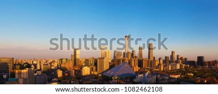 Central Business District of Beijing. It is the home of many high-end enterprises such as finance, insurance, real estate and internet. #1082462108