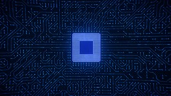 Central Computer Processor Microchip Background