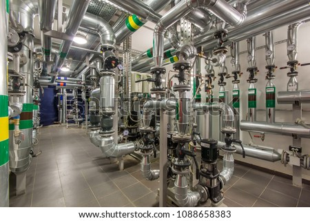 Free photos Modern boiler room equipment for heating system ...
