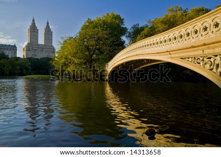 central park spring pictures. stock photo : Central park bow