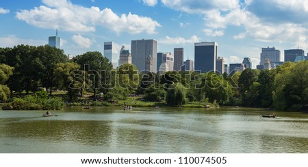 Central Park Lake  in  Manhattan, New York - USA