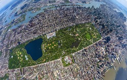 Central park manhattan new york aerial view from top position