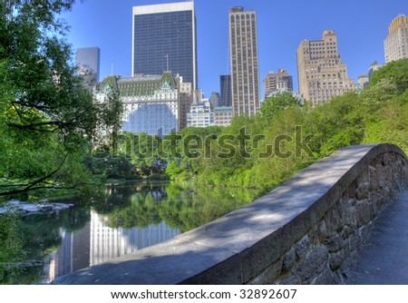 Central Park near central park south in the earl morning - stock photo