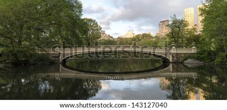 Central Park, New York City Bow bridge in spring