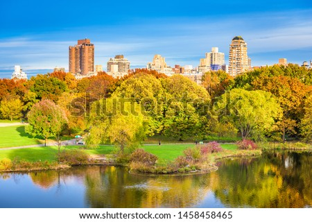 Central Park, New York City, USA in early autumn.