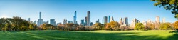 Central Park panorama in New York City during autumn season