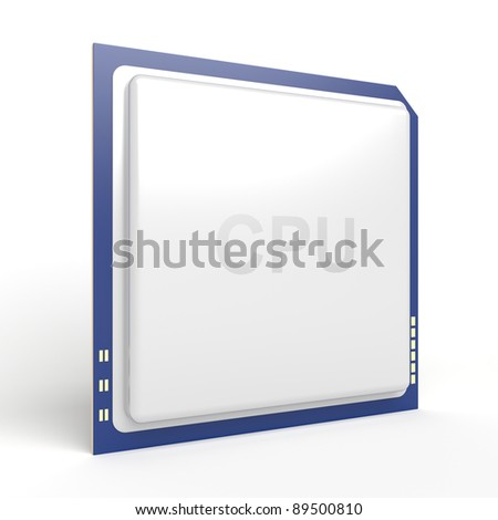 Central processing unit (CPU) on white background