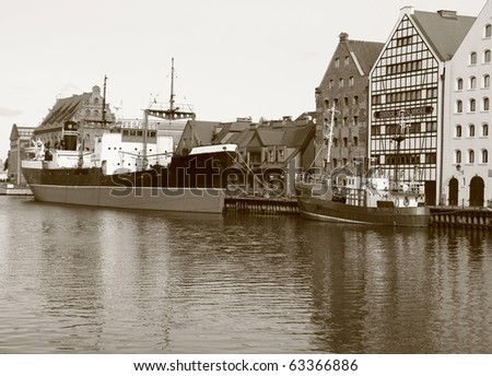 Central Sea Museum in Gdansk at Motlawa river - Poland
