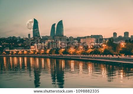 Centre of Baku Azerbaijan