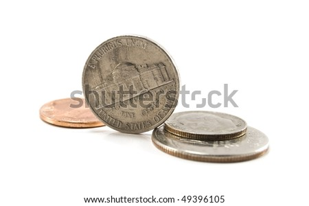 cents are isolated on white