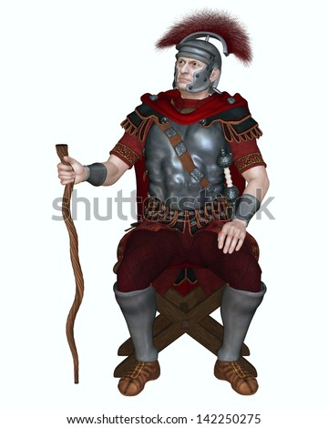 Centurion Of The Imperial Roman Legionary Army Wearing A