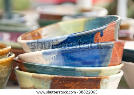 Ceramic Bowls at the Boise Saturday Market