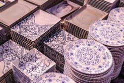 ceramic bowls at the market