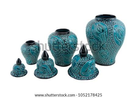 Ceramic cruse. Turkey Kutahya çini küp Stok fotoğraf ©