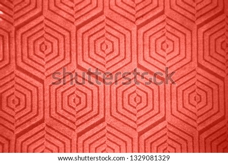 Ceramic decorative tile figured pattern in a trendy fashionable trendy color . #1329081329