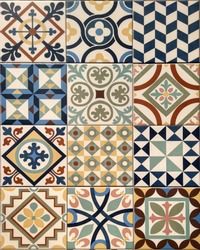 Ceramic floor and wall tiles pattern background