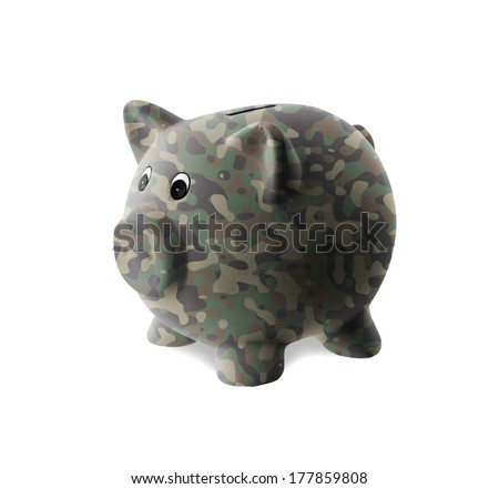 Ceramic piggy bank with painting army camouflage stock for How to paint a ceramic piggy bank