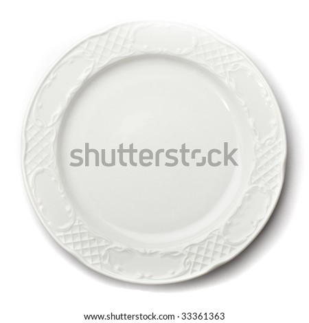 ceramic plate isolated