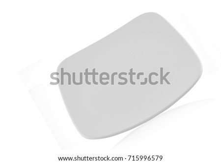 Ceramic plate isolated on white background #715996579