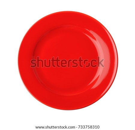 Ceramic plate on white background