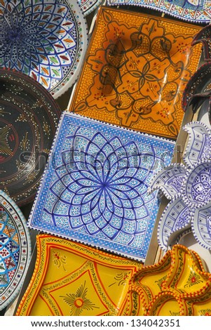 Ceramic plates from Tunisia