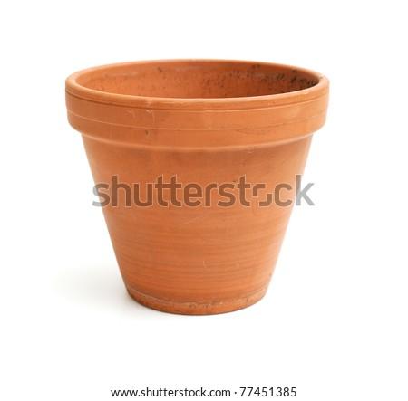 ceramic pot on white background