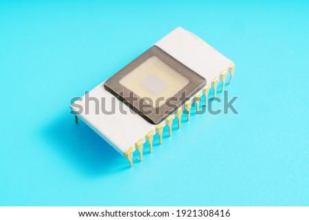 Ceramic ROM memory chip high quality photo Foto stock ©